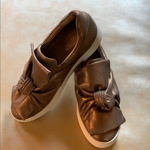 J Slides Audra bronze metallic slip on
